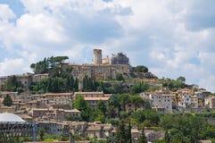 Vue panoramique d'Amelia. L'Ombrie. L'Italie. Image stock