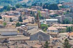 Vue panoramique d'Amelia. L'Ombrie. L'Italie. Image libre de droits