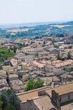Vue panoramique d'Amelia. L'Ombrie. L'Italie. Images stock
