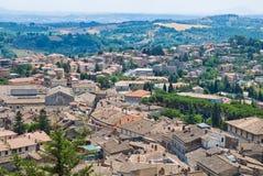 Vue panoramique d'Amelia. L'Ombrie. L'Italie. Photographie stock libre de droits