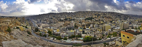 Vue panoramique d'Amman. La Jordanie. Photo stock