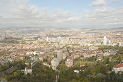 Vue panoramique d'Ankara photographie stock