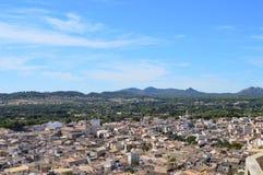 Vue panoramique d'Arta Mallorca images libres de droits