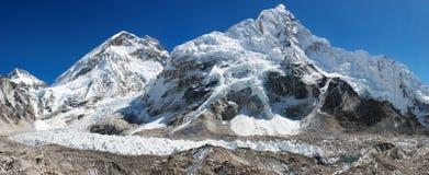 Vue panoramique d'Everest Images libres de droits