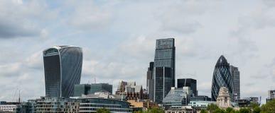 Vue panoramique d'horizon de Londres Image libre de droits