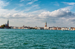 Vue panoramique d'horizon de Venise, Italie photographie stock libre de droits
