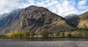 Vue panoramique d'horizontal de montagne Images stock