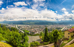 Vue panoramique d'Innsbruck Photos stock