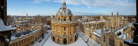 Vue panoramique d'Oxford Images libres de droits