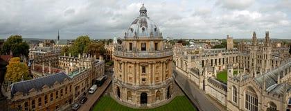 Vue panoramique d'Oxford Image libre de droits
