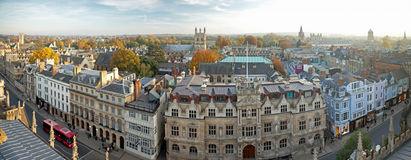 Vue panoramique d'Oxford Image stock