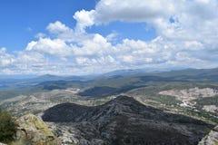 Vue panoramique d'une gamme de montagne image stock
