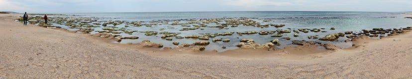 Vue panoramique d'une plage photographie stock libre de droits