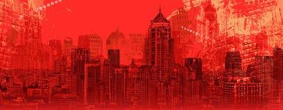 Vue panoramique d'une ville moderne illustration libre de droits
