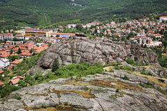 Vue panoramique dans Belogradchik bulgaria photographie stock