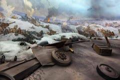Vue panoramique dans le musée chez Mamaev Kurgan Image stock