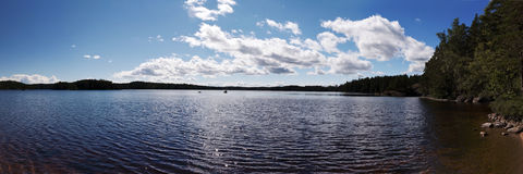 Vue panoramique dans Vaestergoetland Suède photos stock