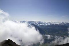 Vue panoramique de bâti Pilatus La Suisse, Alpes, été photographie stock libre de droits