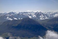 Vue panoramique de bâti Pilatus La Suisse, Alpes, été photos libres de droits