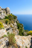 Vue panoramique de baie de Paleokastratsa Photographie stock