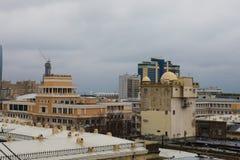 Vue panoramique de Bakou Ciel nuageux downtown Capitale de l'Azerbaïdjan Photo libre de droits
