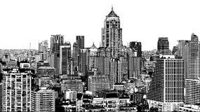 Vue panoramique de Bangkok moderne près d'Asok illustration stock
