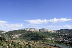 Vue panoramique de banlieue de Jérusalem Photos libres de droits
