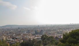 vue panoramique de Barcelone Image libre de droits