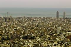 Vue panoramique de Barcelone Images stock