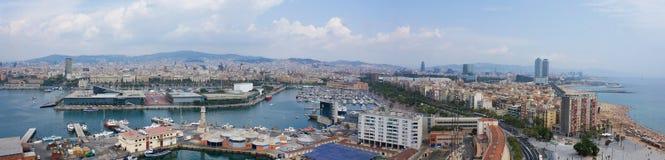 Vue panoramique de Barcelone en Espagne Images libres de droits