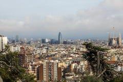 Vue panoramique de Barcelone, Espagne photo stock