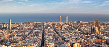 Vue panoramique de Barcelone, Espagne photo libre de droits