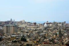Vue panoramique de belvédère Montaldo, Gênes, Italie de Spianata Castelletto de ville de Gênes image libre de droits