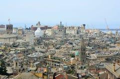 Vue panoramique de belvédère Montaldo, Gênes, Italie de Spianata Castelletto de ville de Gênes image stock