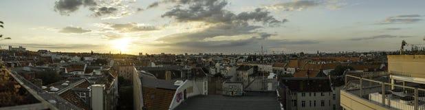 Vue panoramique de Berlin au coucher du soleil, Allemagne images stock
