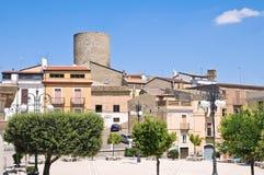 Vue panoramique de Biccari. La Puglia. L'Italie. photo stock