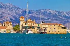 Vue panoramique de bord de mer de Kastel Gomilica Image stock
