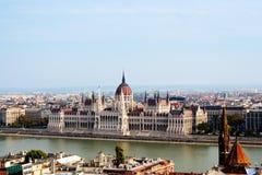 Vue panoramique de Budapest Images stock