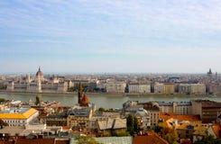Vue panoramique de Budapest Photo stock