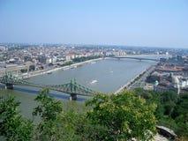 Vue panoramique de Budapest Photo libre de droits