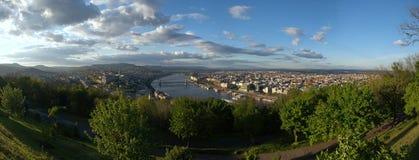 Vue panoramique de Budapest Images libres de droits