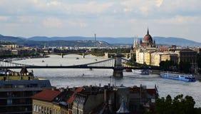 Vue panoramique de Budapest, Hongrie image libre de droits