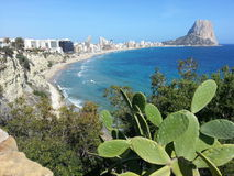 Vue panoramique de Calpe Image libre de droits