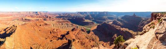 Vue panoramique de canyon au parc d'état de cheval mort Photos libres de droits