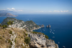 Vue panoramique de Capri Image stock
