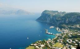 Vue panoramique de Capri, Italie méridionale image libre de droits