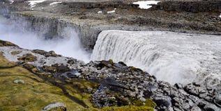 Vue panoramique de cascade de Dettifoss Image libre de droits