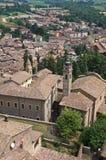 Vue panoramique de Castell'arquato Émilie-Romagne l'Italie photos stock