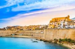 Vue panoramique de Castellammare del Golfo, Trapani, Sicile photo libre de droits