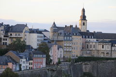 Vue panoramique de centre de la ville du Luxembourg Image stock